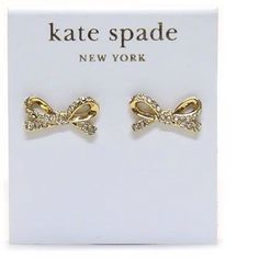 Kate Spade Pave Bow Earrings New in package with tags. Comes with KS dustbag. Gorgeous! No trades. Price is firm. kate spade Jewelry Earrings