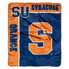 "NCAA Syracuse Orange 50-Inch-by-60-Inch Raschel Plush Throw ""School Spirit"" Design by Northwest. $27.99. Officially Licensed Blanket. Made in China. Measures 50-Inches-by-60-Inches. 100% Polyester. Machine Wash Cold Using Cold Water and Delicate Cycle; Do Not Bleach; Tumble Dry on Low and Gentle Cycle; Do Not Iron. This officially licensed team logo throw is simple yet effective at capturing fans admiration and rallying support for your favorite college team's victory.  Nort..."