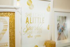 Sparkle and Shine Golden Birthday Party with Really Cute Ideas via Kara's Party Ideas KarasPartyIdeas.com #GoldenBirthday #GoldParty #Golden...