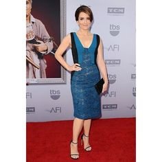 Funny Girl - Tina Fey looking seriously lovely in J. Mendel at the 43rd AFI Awards @gillesmendel #JMENDEL #TinaFey