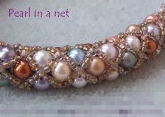 Pearl in a Net Kit pretty colorway...spiral 3 pearl colors