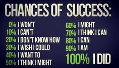 Don't take chances succeed! #life #fitness