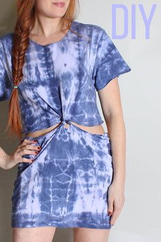 Get prepped for the summer by making this highly necessary punch knot dress with nothing but a long shirt or an old dress.