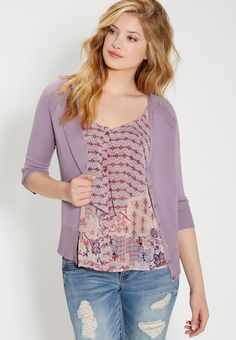 burnwash tunic sweatshirt in berry (original price, $24.98) available at #Maurices