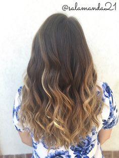 Gorgeous natural beachy curled balayage ombré hair done by me Manda Heath @salamanda21