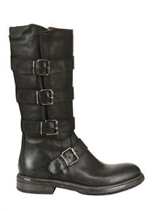 FRUIT - 20MM MULTI BUCKLED LEATHER BOOTS