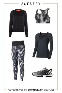 Outfit for tennis !   Bra: https://flybery.com/clothing/casall-iconic-sports-bra-aw17-cross-fit/p/178016  Top: https://flybery.com/clothing/casall-zebra-insert-running-top-ss17-cross-fit/p/174178  Sweatshirt: https://flybery.com/clothing/bjorn-borg-bjorn-borg-paulina-crewneck-sweatshirt-black-tennis/p/157370  Leggings: https://flybery.com/clothing/casall-mystic-78-tights-aw17-cross-fit/p/178026  Trainers: https://flybery.com/shoes/adidas-energy-volley-boost-20-indoor-court-shoes-gym/p/171013