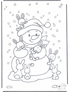 Free Printable Winter Coloring Pages - Free Printable Winter Coloring Pages, Winter Time Printable Coloring Pages Free Printable Winter Coloring Pages Winter, Bunny Coloring Pages, Christmas Coloring Pages, Coloring For Kids, Printable Coloring Pages, Coloring Pages For Kids, Coloring Books, Crayola Coloring Pages, Snowman Coloring Pages