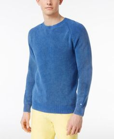 TOMMY HILFIGER Tommy Hilfiger Men'S Wallace Washed Cotton Sweater. #tommyhilfiger #cloth # sweaters