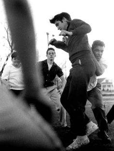 vintage everyday: Elvis Presley Playing Touch Football
