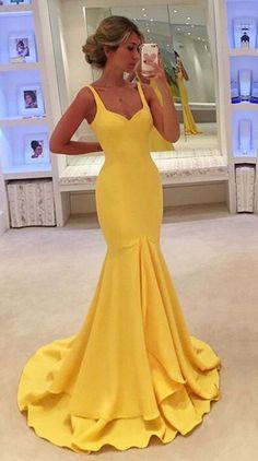 New Arrival Yellow Prom Dress,Mermaid Evening Dress,Long Evening #prom #promdress #dress #eveningdress #evening #fashion #love #shopping #art #dress #women #mermaid #SEXY #SexyGirl #PromDresses