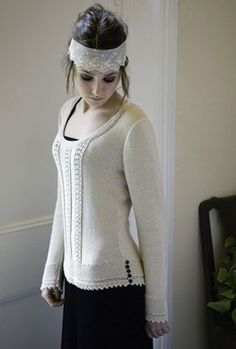 Amory sweater from Heartfelt book by Kim Hargreaves