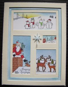 Shadow Box Christmas card - DIY inspired by Sue Wilson