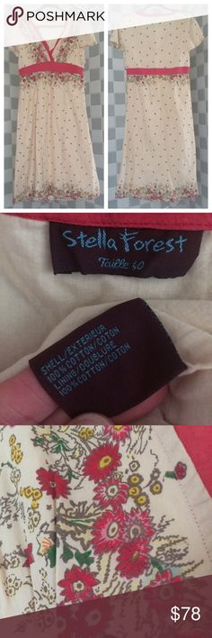 """HOLD❗️Stella Forest Boho Elegant Floral Dress Beautiful, preloved condition.  One tiny mark close to armpit, will post soon, not visible at all, boho elegant, Stella Forrest long dress with gorgeous feminine details like side button closure.  SF's strength is due to the mix of styles, influences, colorful and original print, and traditional embroideries on modern shapes.  This v-neck dress has a garden party vibe.  I'd pair with tan, Low booties, Lined, armpit seam to seam Appx 18.5"""", length…"""