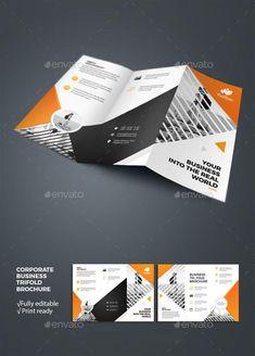Corporate Tri Fold Brochure For 7 Envato Design Brochuretempate Printdesign Brochuretemplates Print Graphicdesign Envatomarket