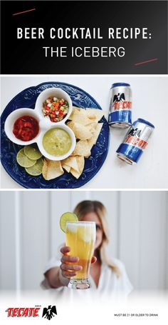 This post has been sponsored by Tecate Light. Must be 21 or older to consume alcohol. Is there anything better than a beach vacation … Beer Cocktail Recipes, Beer Recipes, Snack Recipes, Snacks, Simple Beer Recipe, Cocktails, Drinks, Margarita, Yummy Treats