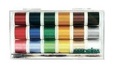 Madeira 8040 #rayon #embroidery box with 18 #bobbins of 200 m each,  View more on the LINK: http://www.zeppy.io/product/gb/2/252593630809/