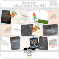 Holiday Greetings - Project Life Holiday Freebie Filler 2013 from Becky Higgins
