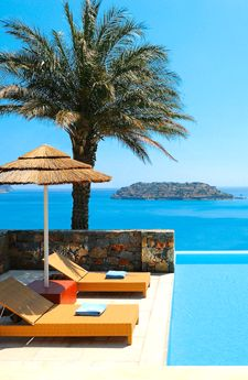 Crete , Greece. Ahh the blue palace - what a beautiful place