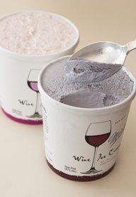 Wine ice cream. 5% alcohol