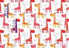 Żyrafy na białym bawełna