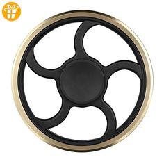 Fidget hand Spinner High-Speed-Edelstahl-Kugellager 3 bis 5 Min Spin Zeiten Ideal zur Steigerung der Konzentration - Fidget spinner (*Partner-Link)
