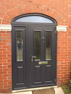 Stand Out From The Crowd With An Etna Composite Door And Matching Sidepanel  In Anthracite Grey