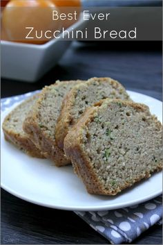 Zucchini Bread For muffins - cook for 18 to 20 minutes (mini and regular) Best Zucchini Bread, Zucchini Bread Recipes, Zuchinni Bread, Squash Bread, Zucchini Parmesan, Parmesan Crisps, Yummy Treats, Delicious Desserts, Yummy Food