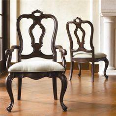 Thomasville Hills of Tuscany Dark Rustico Dining chairs