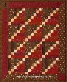 Cinnamon Sticks, one of three new quilts included in my Tokens of the Past: Spice Box pattern series.