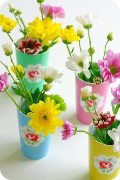 little vases full of happy sunshine