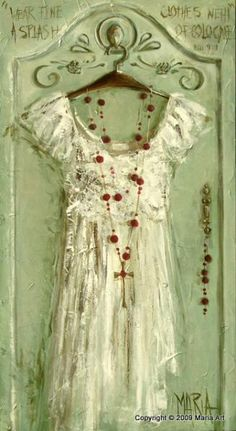 Dress painting Maria M. Shabby, Illustrations, Illustration Art, Dress Painting, South African Artists, Vestidos Vintage, Home And Deco, Pantone Color, Shades Of Green