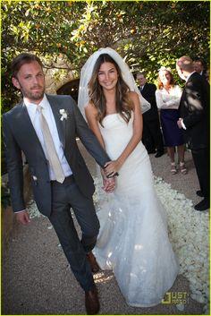 lily aldridge and caleb followill. Perfect groom attire!