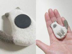 羊毛フェルト・猫のマグネット