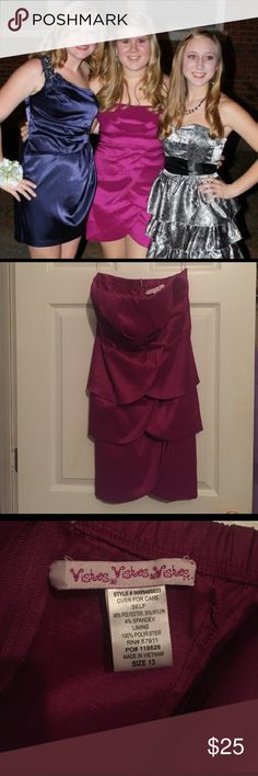 Wishes Wishes Pink Homecoming/Semi-Formal Dress Size 13 pink homecoming dress! Worn twice but still in new condition! Zip back! Super comfy & flattering on all body types! wishes wishes wishes Dresses Strapless