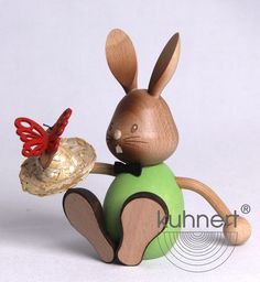 Easter Bunny Stupsi with butterfly