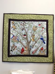 Sample Quilt Using Beautiful Birds Panel By Tracy Lizotte