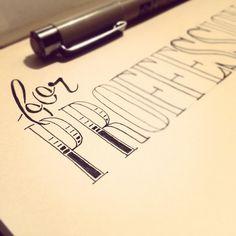 hand lettering, always a fan