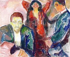 The Athenaeum - Jealousy (1913 - 1915) (Edvard Munch - )
