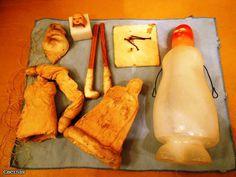 Реставрация антикварной новогодней игрушки из ваты. Снегурочка и Дед Мороз. +БОНУС, папье маше из ваты. / Кукольная мастерская: ремонт и реставрация кукол / Бэйбики. Куклы фото. Одежда для кукол