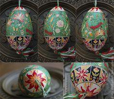 Купить Писанки - Пасха, пасхальный сувенир, пасхальные яйца, пасха 2013, писанка, гусиные яйца