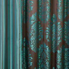 Amazon.com: Best Home Fashion Wide Width Damask Jacquard Curtain ...