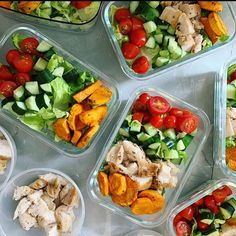 What's in your next meal prep? These layouts by look too good not to try! - Brings your ideas into action with… Thanksgiving Leftovers, Sunday Meal Prep, Eat The Rainbow, Healthy Salads, Meals For The Week, Meal Planning, Prepping, Healthy Living, Clean Eating