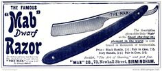 Original - Anzeige / Advertise 1903 : (ENGLISH) MAB DWARF RAZOR / BIRMINGHAM  - ca 120 x 50 mm