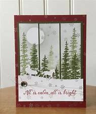 Christmas card kit -Christmas scense with santa sleigh - md w/ Stampin Up prod Christmas Cards 2017, Stamped Christmas Cards, Homemade Christmas Cards, Xmas Cards, Homemade Cards, Handmade Christmas, Holiday Cards, Christmas Crafts, Greeting Cards