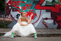 After day wedging trash the dress graffiti Photographe mariage Nantes