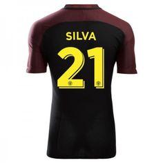 Manchester City 16-17 David #Silva 21 Udebanesæt Kort ærmer,208,58KR,shirtshopservice@gmail.com
