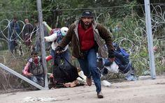 Exército da Hungria ensaia acção decisiva contra refugiados - PÚBLICO  Mesmo com arame farpado, entram refugiados em número recorde na Hungria. Governo envia milhares de soldados para a fronteira até ao final do mês.