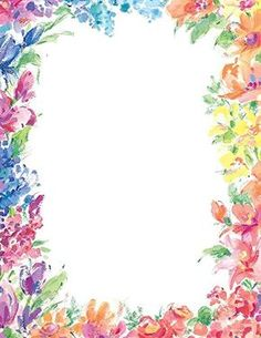 Bright Floral Letterhead 80 Count 2014333 ** Learn more by visiting the image link. (This is an affiliate link) Borders For Paper, Borders And Frames, Floral Frames, Floral Prints, Certificate Background, Certificate Design Template, Bunny Painting, Paper Frames, Stationery Paper