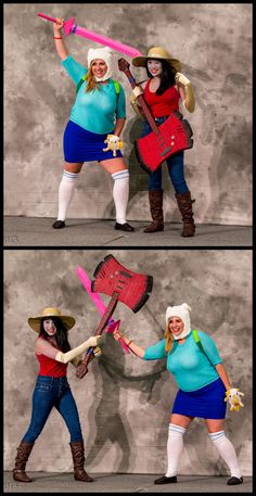 love this, especially since one of the women has my bigger proportions--Adventure Time #Cosplay | SDCC 2013